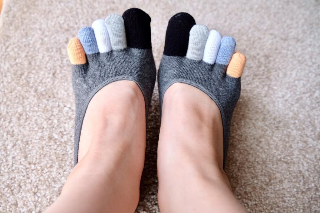 くるぶし丈 靴下 五本指