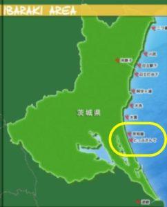 サーフィン、場所、茨城、鉾田